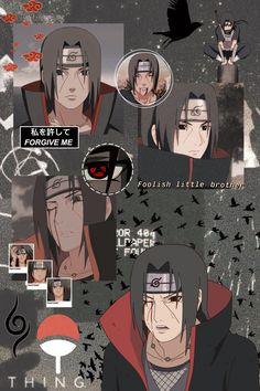 Follow @by_labi on instagram for more 🙃 Naruto Phone Wallpaper, Naruto And Sasuke Wallpaper, Wallpapers Naruto, Cool Anime Wallpapers, Cute Anime Wallpaper, Animes Wallpapers, Itachi Uchiha, Naruto Shippuden Sasuke, Avatar Costumes