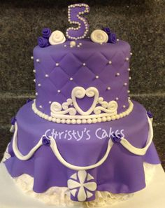 Sofia the First Birthday Party Cake!!