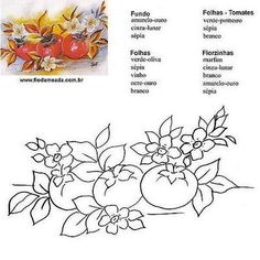 Fruit Art, Simple Art, Flower Art, Coloring Pages, Stencils, Cross Stitch, Album, Embroidery, Drawings