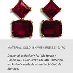 Patseas earrings for myhydrasophiadelachouvel available at the Yacht Club pf Monaco