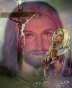 Jesus and Mary Jesus Mother, Blessed Mother Mary, Blessed Virgin Mary, God Jesus, Pictures Of Jesus Christ, Religious Pictures, Immaculée Conception, Queen Of Heaven, Mama Mary