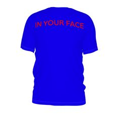 #inyourface by #frankiet #tshirt #bright #face #blue #citrusreport #@The Citrus Report