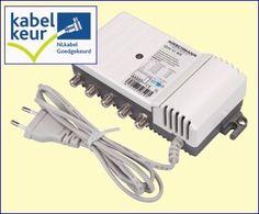 De GHV41MX is op alle vier de uitgangen retourgeschikt voor interactieve diensten zoals Internet, telefonie en TV-on-demand. De versterking van de vier uitgangen is oplopend van 3,5 dB tot 9,0 dB. Deze versterker kan gebruikt worden voor huisinstallaties met maximaal vier aansluitingen. http://www.vego.nl/hirschmann/ghv41m/ghv41m.htm