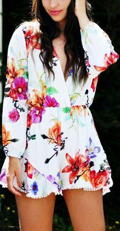Floral Romper ♡ L.O.V.E