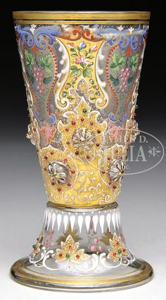 MOSER DECORATED TUMBLER.
