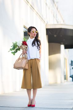 Flowers :: Mustard trousers