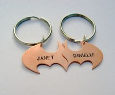 Batman Best Friend key chains in COPPER Friendship by VisionQuest, $70.00