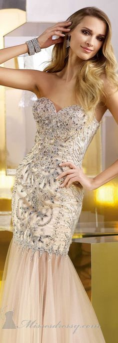 Beaded Lace Gown by Alyce Claudine Collection | Keep The Glamour ♡ ✤ LadyLuxury ✤