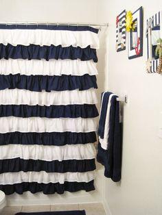 ruffle shower curtain!
