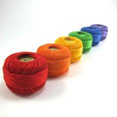 Rainbow Pear Cotton Set Finca Presencia Perle by snugglymonkey