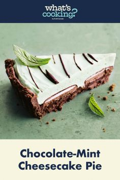 Mint Chocolate Cheesecake, Mint Cheesecake, How To Make Cheesecake, Delicious Desserts, Dessert Recipes, Pie Flavors, Cookie Crust, Cream Cheese Filling, What To Cook