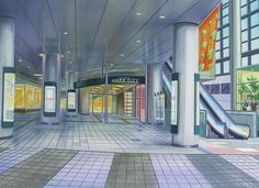 Shopping Background Anime Scenery Visual Novel
