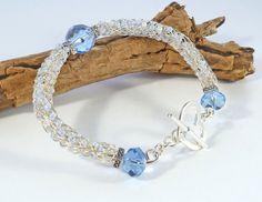 Viking Knit Beaded Bracelet  Viking Weave by BeauBellaJewellery