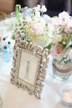 #table-numbers, #frames  Photography: Craig & Eva Sanders - craigevasanders.com Floral Design: Little Botanica - littlebotanica.com  Read More: http://stylemepretty.com/2012/05/09/scottish-wedding-at-glenskirlie-house-castle-by-craig-eva-sanders/