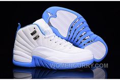 "2e249b4f190e 2017 Girls Air Jordan 12 ""University Blue"" For Sale Discount DpKJQa"