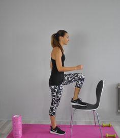 exercice quadriceps chaise