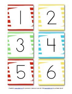 This set of cute and colorful Dr. Seuss inspired calendar numbers will go great with your Dr. Seuss theme in the month of March.