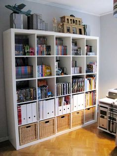 Yes!  Expedit-like dvd storage that doesn't look like crap!