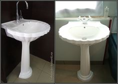 Lavoar cu picior Rosano din compozit marmura | Wall Tiles Design, Bathroom Wall, Sink, Home Decor, Sink Tops, Vessel Sink, Decoration Home, Room Decor, Sinks