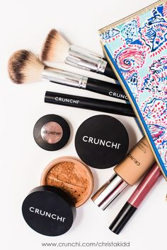Crunchi makeup is made of a combination of safe, cert organic and eco cert ingredients. Toxin free cosmetics that work awesome! gluten free, non gmo, vegan or vegetarian and cruelty free.