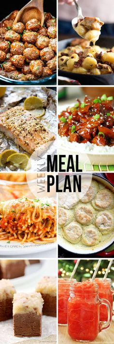 """STRESS FREE Weekly Meal Plan Sunday 25 so you always know """"What's For Dinner?"""" before ever being asked. Top recipes from favorite bloggers who have done all your time consuming meal planning for you!"""