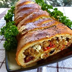 Sausage bread appetizer