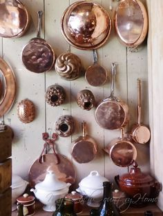My French Country Home, French Living - Page 21 of 318 - Sharon SANTONI - copper kitchenware