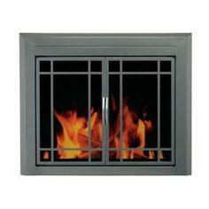 For Living Room--Pleasant Hearth Edinburg Medium Glass Fireplace Doors-ED-5411 at The Home Depot