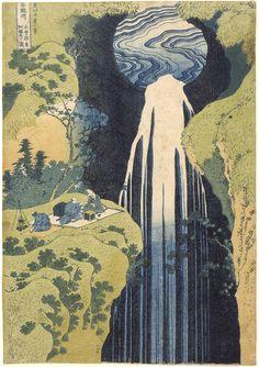 'The Amida Waterfall' Katsushika Hokusai, Edo period