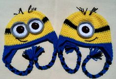 Hey, I found this really awesome Etsy listing at https://www.etsy.com/listing/216217762/crochet-minion-hathalloween-costumeadult