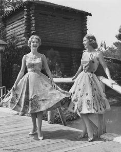 50's desert themed circle skirts.