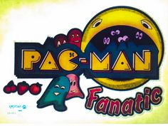Pac-Man Fanatic Vintage Glitter Iron On Heat Transfer by VintageIronOn on Etsy