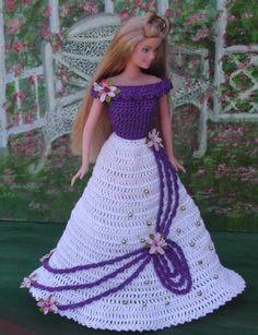 Folleto de la serie de tiempo de día de moda la muñeca Barbie modelo - #304 de ganchillo