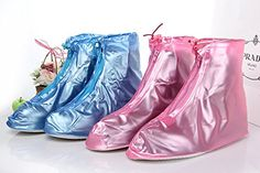 Puddles For Her  Womens Waterproof Emergency Rain Wear for the Feet If you Splash Weve Got You Covered Pink  Blue Pink Medium 775 *** Check out the image by visiting the link.
