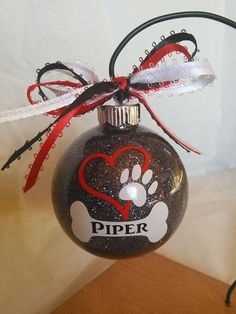 Check out our custom dog ornament selection for the very best in unique or custom, handmade pieces from our ornaments shops. Christmas Vinyl, Christmas Ornament Crafts, Diy Christmas Ornaments, Christmas Projects, Holiday Crafts, Christmas Crafts, Christmas Decorations, Christmas Tree, Vinyl Ornaments