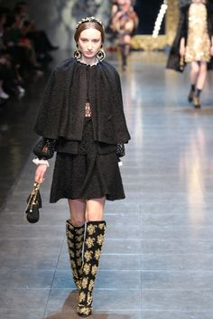 Fall 2012 Trend: The Great Capers:  Dolce & Gabbana RTW Fall 2012