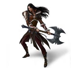 Varath by anndr elf vampire battleaxe axe fighter barbarian armor clothes clothing fashion player character npc | Create your own roleplaying game material w/ RPG Bard: www.rpgbard.com | Writing inspiration for Dungeons and Dragons DND D&D Pathfinder PFRPG Warhammer 40k Star Wars Shadowrun Call of Cthulhu Lord of the Rings LoTR + d20 fantasy science fiction scifi horror design | Not Trusty Sword art: click artwork for source: