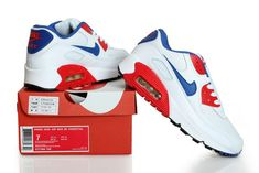 wholesale dealer 1dc6c 0d10f Air Max 90 Blue White Red