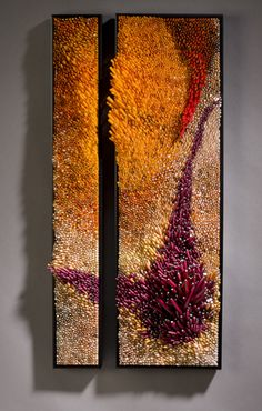 """Shayna Leib, Glass Artist - Sculptural Glass Art - """"Benguela""""   The Benguela Current is the eastern boundary current off of the western coast of Africa . It begins off the Cape of Good Hope and moves toward the equator.      Benguela Glass, 2008 30 """" h x 15"""" l x 6"""" d overall"""