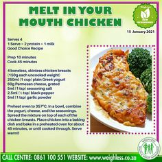 Baked Chicken Recipes, Meat Recipes, Seafood Recipes, Dinner Recipes, Cooking Recipes, Chicken Meals, Healthy Recipes, Healthy Meals, Yummy Recipes
