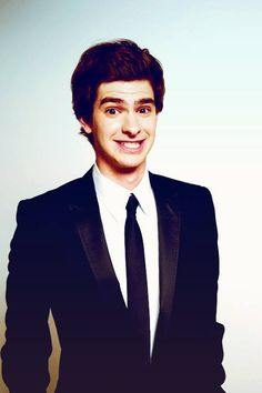 Andrew Garfield :) I just like this picture. I love how he's showing his humoring personaliity☺