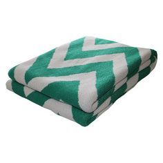 Zigzag Eco Throw Emerald, $115, now featured on Fab.