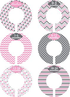 Custom Baby Closet Dividers Girl Princess by LittleLillyBugDesign, $9.00
