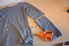 Re-purposing: Women's Long Sleeved Shirt into Short Sleeves……and a new friend! | Make It and Love It