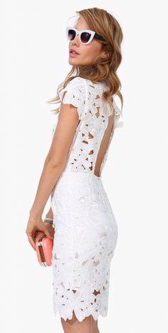 #street #style white crochet dress @wachabuy