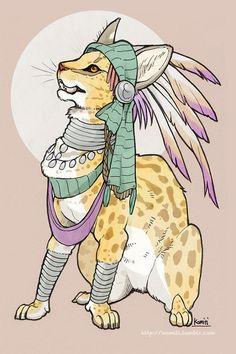 tribal kitty