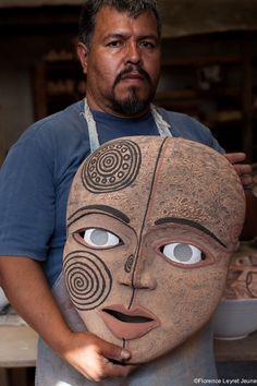 Manuel Morales, ceramist ( Tzintzuntzan, Michoacan, Mexico).
