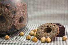 CIAMBELLINE DI GRANO SARACENO CON NOCCIOLE E CIOCCOLATO - ricetta biscotti