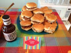 Rainbow Party Food - Drippy BBQ Sandwiches