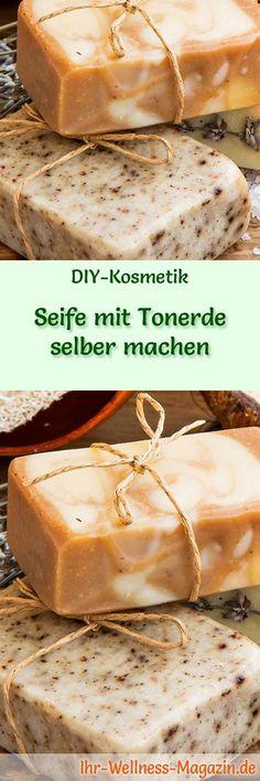 Seife herstellen - Seifen-Rezept: Seife mit Tonerde selber machen - rote Tonerde wirkt hautaufhellend und gibt einen natürlichen, samtigen Schimmer ...